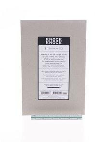 Krémovo-modrý plánovací blok Knock Knock A5