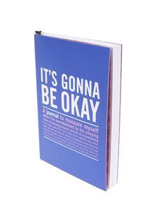 Tmavomodrý zápisník s citátmi pre pozitívne myslenie Knock Knock A6