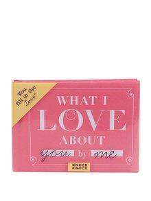 Růžová doplňovací mini knížka pro zamilované Knock Knock