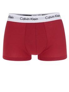 Súprava troch boxeriek v bielej, červenej a modrej farbe Calvin Klein