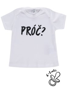 Bílé dětské triko ZOOT Kids Proč