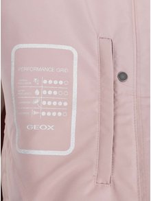 Staroružová dámska krátka bunda s kapucňou Geox