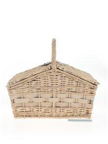 Coș de picnic bej pentru 4 persoane Dakls