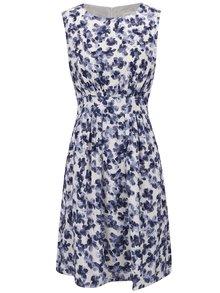 Krémovo-modré květované krátké šaty Apricot
