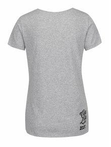 Šedé dámské tričko s potiskem kačenek Cuky Luky film