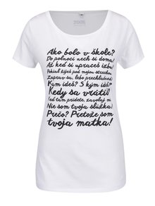Biele dámske tričko ZOOT Originál Hlášky