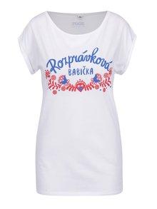 Bílé dámské tričko ZOOT Originál Rozprávková babička