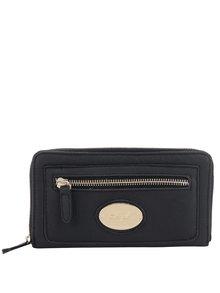 Čierna peňaženka s detailmi v zlatej farbe Hampton Rochelle
