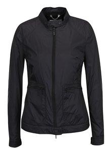 Jachetă neagră impermeabilă Geox cu guler înalt