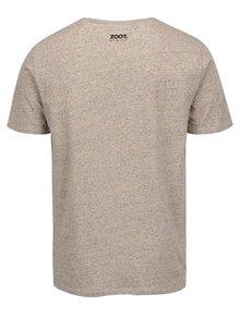 Béžové pánske tričko ZOOT Originál Svoje dievčatko si ustrážim