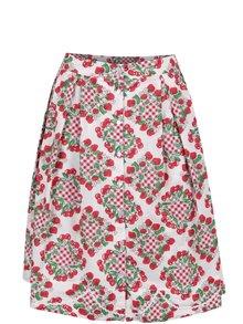 Červeno-krémová vzorovaná sukně na knoflíky Blutsgeschwister