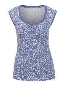 Modré kvetované tričko s krátkym rukávom Blutsgeschwister