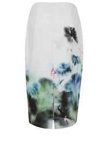 Biela kvetovaná puzdrová sukňa Smashed Lemon