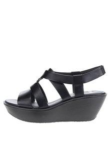 Černé dámské kožené sandály na platformě Camper