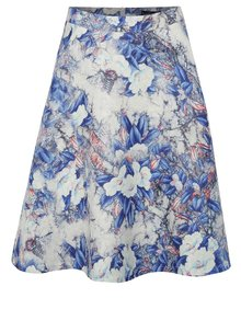 Bílo-modrá květovaná sukně Smashed Lemon