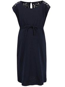 Tmavomodré tehotenské šaty Mama.licious New Aletta