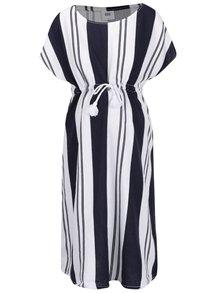 Modro-biele pruhované tehotenské šaty Mama.licious Beach