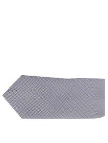 Světle šedá kravata s jemnými pruhy Selected Homme Neal