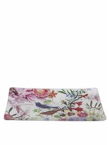 Růžovo-krémová květovaná skleněná miska na mýdlo Michel Design Works