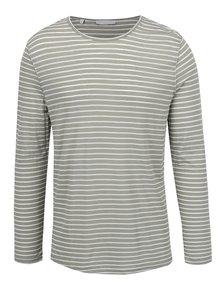 Bluză alb&verde Selected Homme Liam cu model în dungi