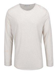 Bluză bej&alb Selected Homme Liam cu model în dungi