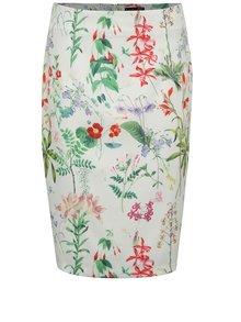 Krémová puzdrová kvetovaná sukňa Smashed Lemon