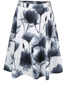 Krémová květovaná áčková sukně Smashed Lemon