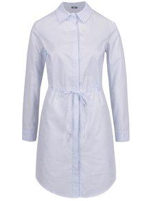 Rochie cămașă bleu ZOOT cu șnur în talie
