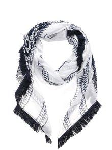 Modro-krémový dámský vzorovaný šátek Tommy Hilfiger