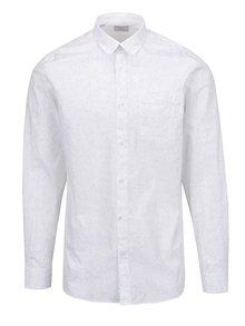 Bílá květovaná košile Selected Homme Woben