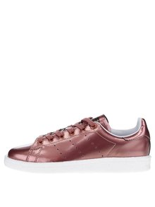 Růžové dámské metalické tenisky adidas Originals Stan Smith