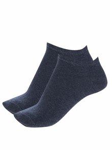 Sada dvou párů dámských kotníkových ponožek v modré barvě Tommy Hilfiger Sneaker
