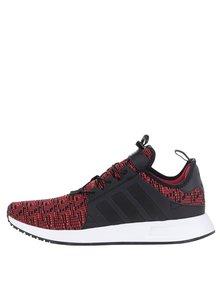 Černo-červené žíhané pánské tenisky adidas Originals X_ PLR