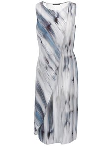 Modro-šedé vzorované šaty bez rukávů Pietro Filipi