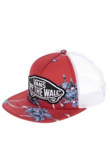 Șapcă alb&roșu VANS Beach Girl cu logo