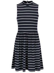 Bílo-modré pruhované šaty Superdry Horeline