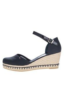 Tmavě modré dámské sandály na klínku Tommy Hilfiger