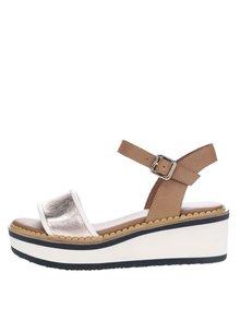 Krémovo hnědé dámské sandály na platformě Tommy Hilfiger