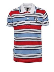 Červeno-bílé chlapecké pruhované polo triko Mix´n Match