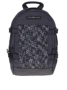 Tmavě šedý pánský vzorovaný batoh Tommy Hilfiger