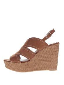 Sandale maro cu platforma OJJU
