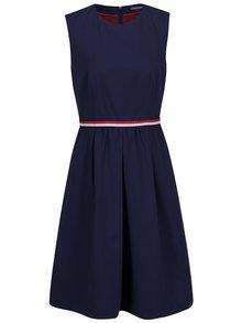 Tmavě modré šaty s jemným vzorem Tommy Hilfiger