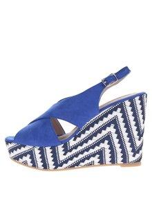 Sandale albastre cu platformă OJJU