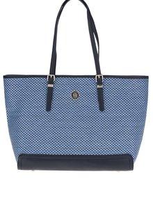Modrá veľká kabelka do ruky Tommy Hilfiger