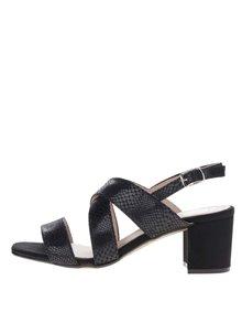 Sandale negre OJJU cu aspect de piele de șarpe
