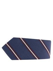 Cravată albastru închis Jack & Jones Milano cu model în dungi