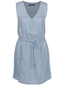 Modré šaty bez rukávů Haily's Ruby