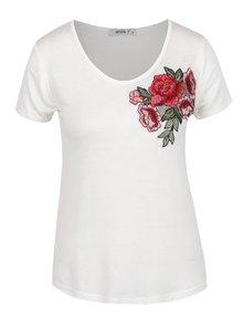 Krémové tričko s výšivkou Haily's Vio