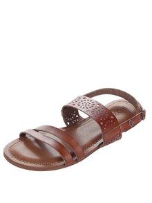 Hnědé  sandály s ornamenty Roxy Felicia