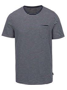 Tricou albastru Jack&Jones Berlin cu model în dungi